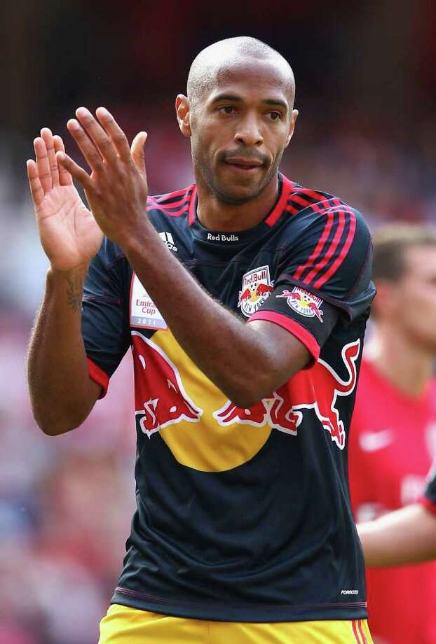 Thierry Henry (France). Henry led France to the World Cup title in 1998. During his international career, Henry earned 123 caps and scored more than 40 goals. Plays for the New Jersey Red Bulls and is one of the highest paid players in the history of the sport   (Photo by Richard Heathcote/Getty Images) Photo: Richard Heathcote