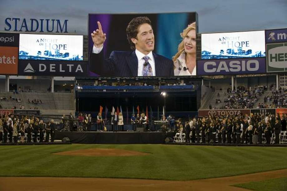 POPULAR SPEAKER: Joel Osteen often speaks to crowds numbering in the tens of thousands. When he takes the podium at Jerusalem Theater in Israel on Thursday the audience is expected to be about 1,000 people. Photo: Ron Wyatt, Joel Osteen Ministries