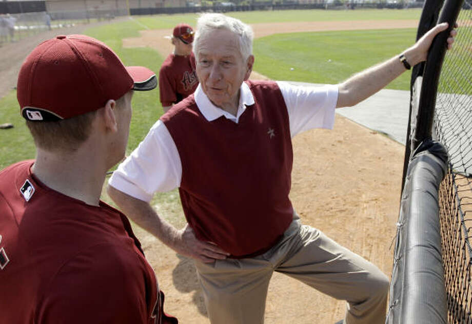 Astros owner Drayton McLane, right, said his team and the Washington Nationals have discussed the possibility of sharing a spring training complex in the future. Photo: David J. Phillip, AP