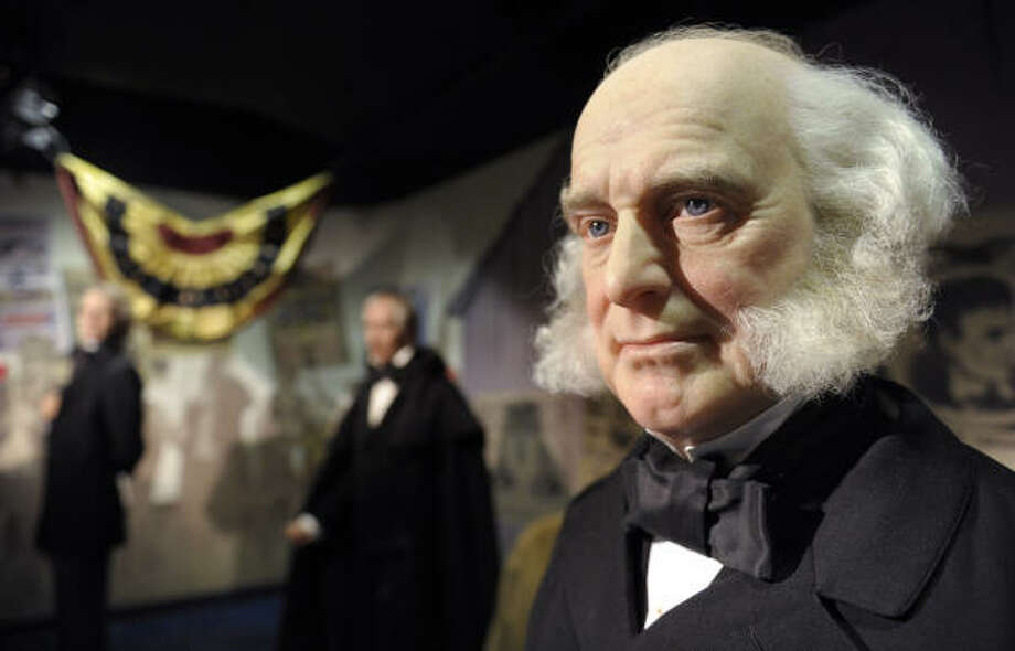 A wax figure of President Martin Van Buren is on display as part of an exhibit of American presidents at Madame Tussaud's wax museum in Washington, D.C. A new gallery opening in Washington will show wax figures of all 44 U.S. presidents together in the nation's capital for the first time. Photo: SUSAN WALSH, ASSOCIATED PRESS