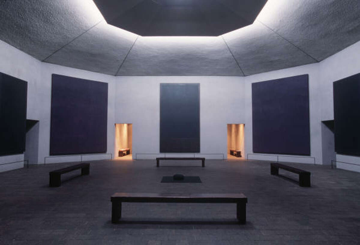 For the Rothko Chapel, 1409 Sul Ross, artist Mark Rothko conceived an octagonal, starkly simple space which encapsulates a solemn silence.