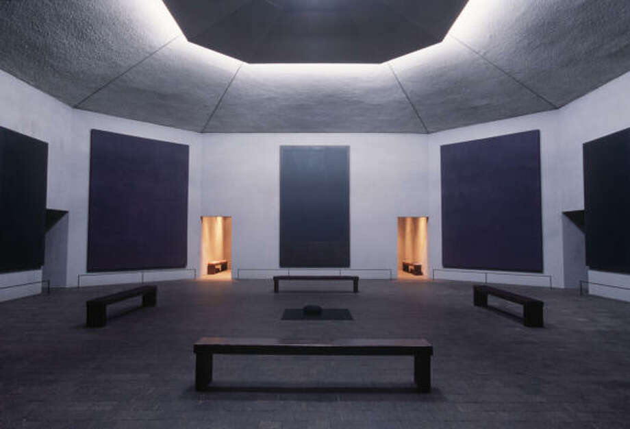 For the Rothko Chapel, 1409 Sul Ross, artist Mark Rothko conceived an octagonal, starkly simple space which encapsulates a solemn silence. Photo: CHRONICLE FILE