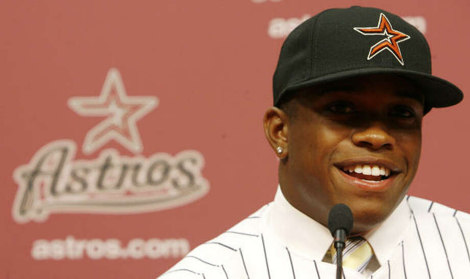 Delino DeShields Jr. was the Astros' first-round pick (No. 8 overall) in the 2010 draft. Photo: Julio Cortez, Chronicle File