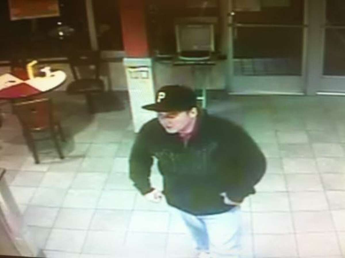 A surveillance camera at the College Station McDonald's captured this image of the suspect.