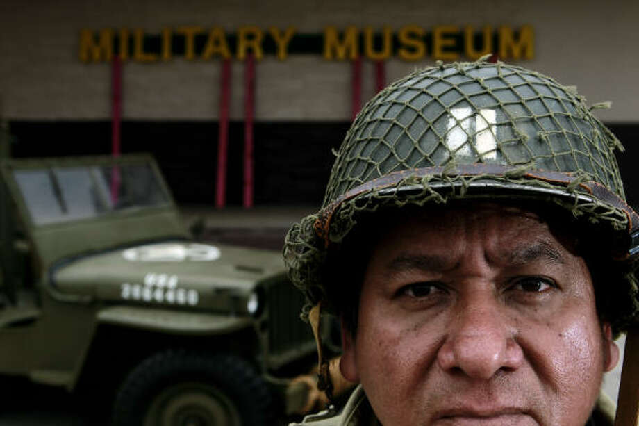 "Jesse Hernandez plans to open the World War II Military History Museum late this summer on Canal Street in the East End. He's hoping the museum will draw families, ""so the kids can see what our armed forces did for us."" Photo: Johnny Hanson :, Chronicle"