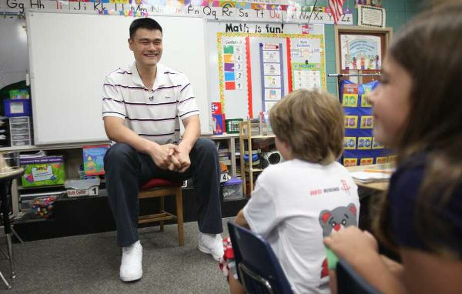 Yao Ming hasn't suited up for the Rockets in more than six months, and he has played in only five games since suffering a stress fracture in his foot in May 2009. Photo: Mayra Beltran, Chronicle