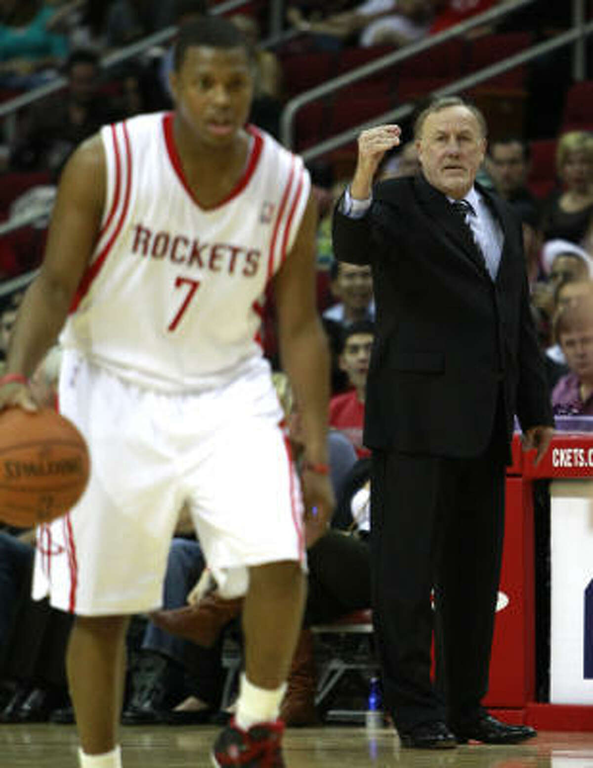 Rockets point guard Kyle Lowry, left, took Monday's news hard.