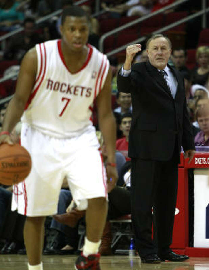 Rockets point guard Kyle Lowry, left, took Monday's news hard. Photo: Brett Coomer, Chronicle