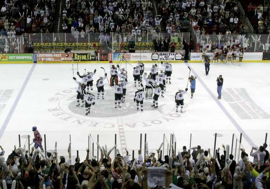 The Aeros survived a near collapse in a seven-game series against Hamilton to reach the finals. Photo: Cody Duty, Chronicle