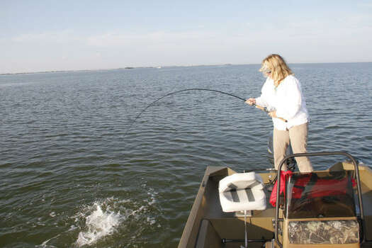 Tompkins west galveston bay can be hot spot for trout for Places to fish in houston