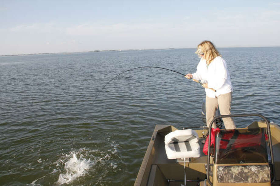 Tompkins west galveston bay can be hot spot for trout for Fishing spots in texas