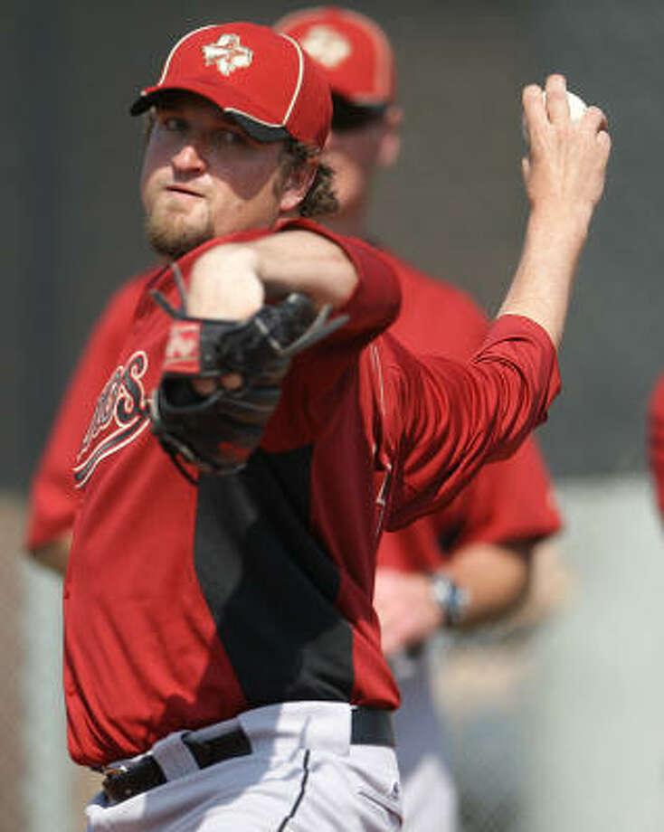 Astros closer Brandon Lyon had a stellar day on the mound Monday. Photo: Karen Warren, Chronicle