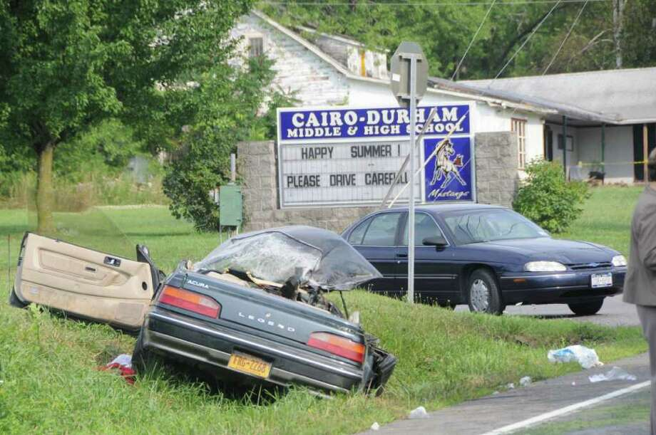 Erika A. Cook, 17, A Cairo-Durham High School student was killed Monday, Aug. 1, 2011, when a car she was traveling in crashed into an oncoming sport utility while making a turn onto the school grounds, according to State Police. (Lance Wheeler / Special to the Times Union)