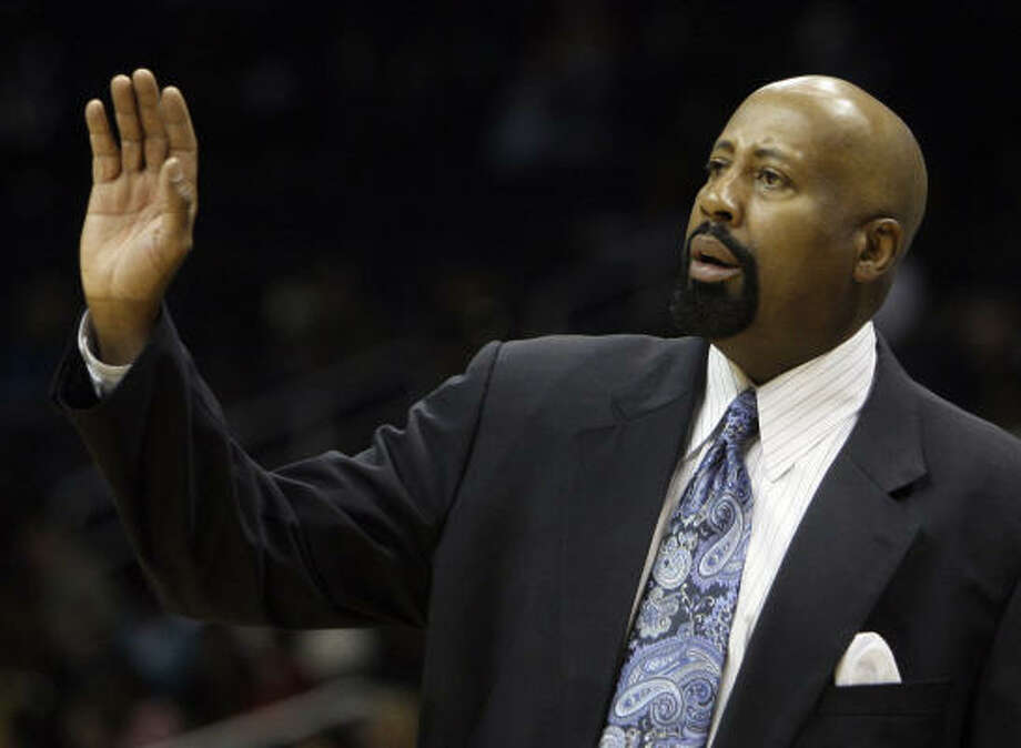 Mike Woodson played three seasons with the Rockets in his 11-year NBA career and coached the Hawks to three consecutive playoff appearances. Photo: John Bazemore, AP