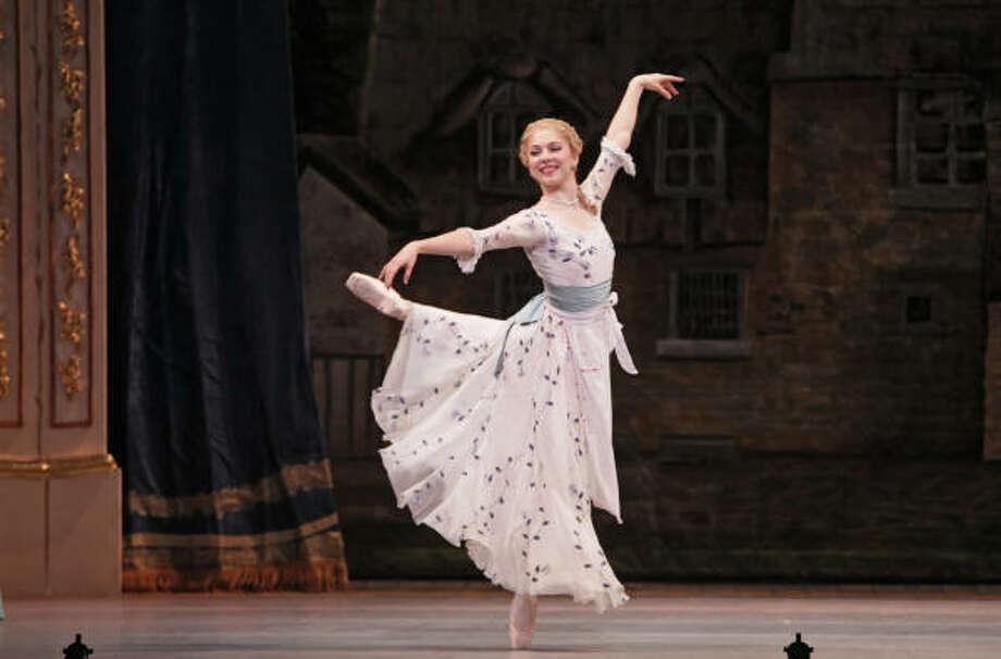 Melody Herrera is delightful as Marie Antoinette in Houston Ballet's production of Marie. Photo: Amitava Sarkar