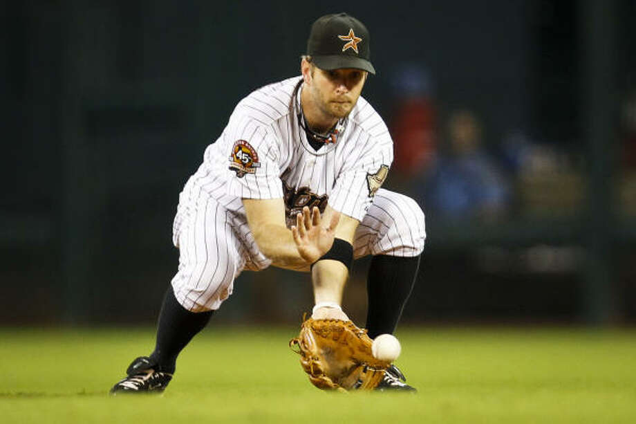 Jeff Keppinger will almost certainly miss the start of the regular season. Photo: Michael Paulsen, Chronicle