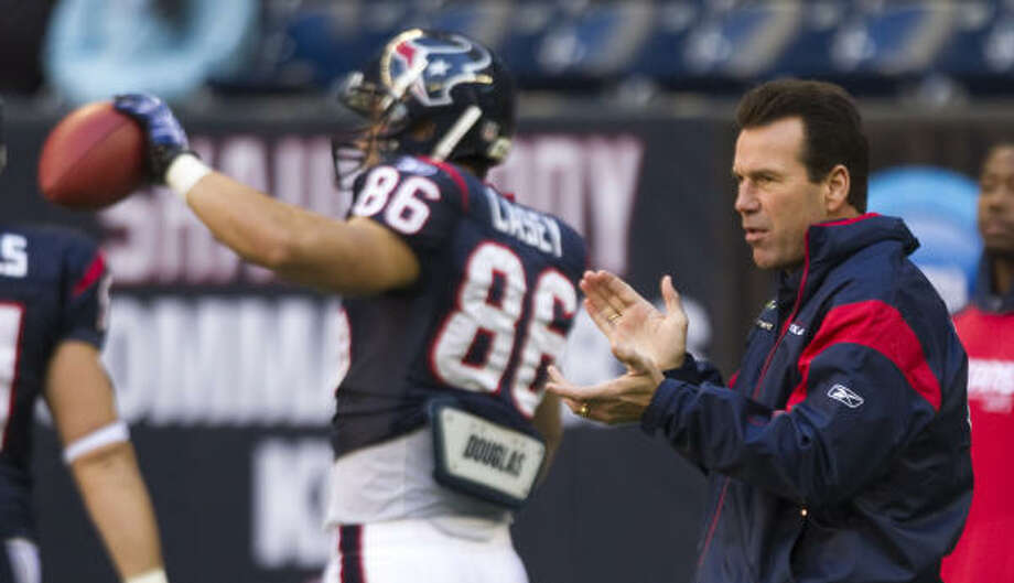 Texans head coach Gary Kubiak will keep his job but make changes to his defensive staff. Photo: Brett Coomer, Chronicle