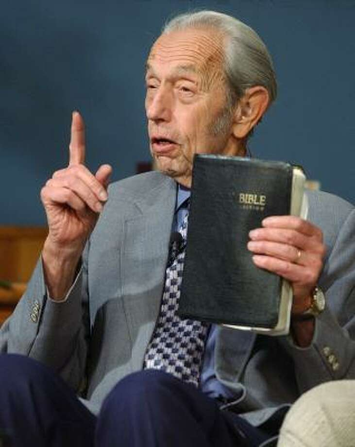 Christian radio host Harold Camping is garnering national attention for his numerology predicting the Second Coming of Christ this year. Photo: ASSOCIATED PRESS