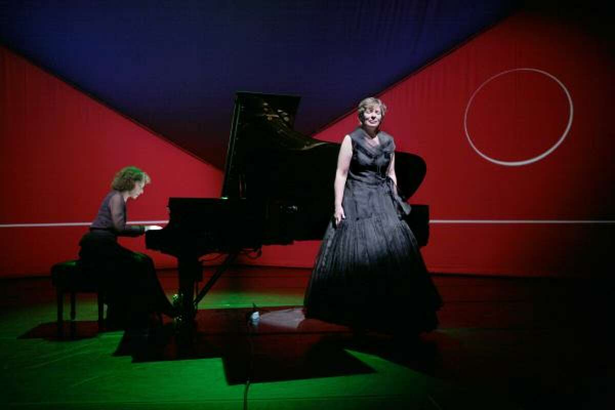 Susan Narucki, soprano and Sarah Rothenberg, pianist and artistic director of Da Camera of Houston present a concert with video and lighting design at the Wortham Theater Center.