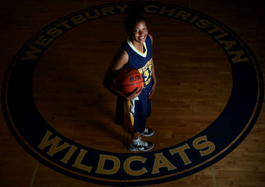 Amber Orrange, who signed to play at Stanford, leaves quite a legacy at Westbury Christian, having helped the Lady Wildcats to the past three TAPPS Class 4A state championships. Photo: Mayra Beltran, Chronicle