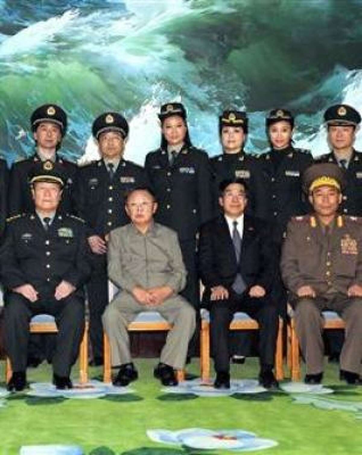 Military and other leaders in North Korea.