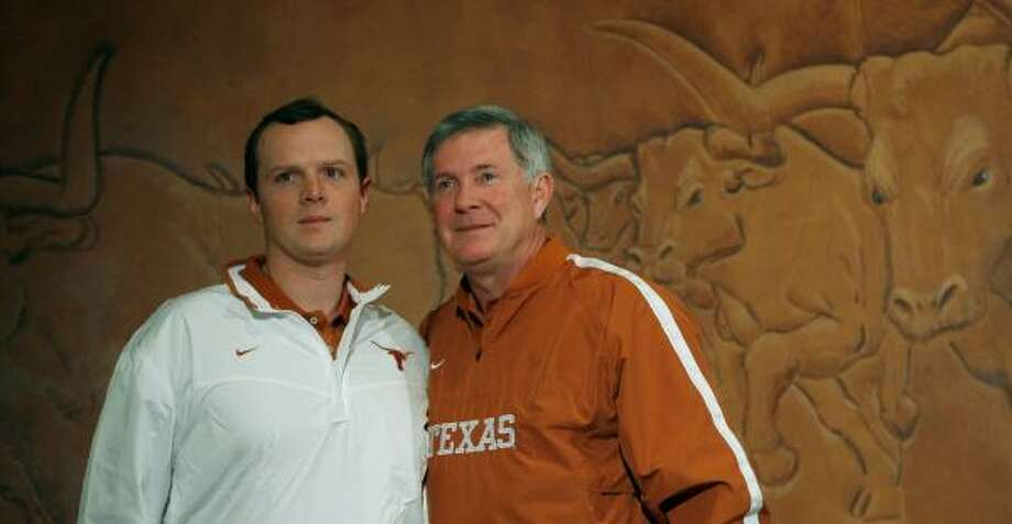 Texas coach Mack Brown will promote Major Applewhite from his job as running backs coach. Photo: Harry Cabluck, AP
