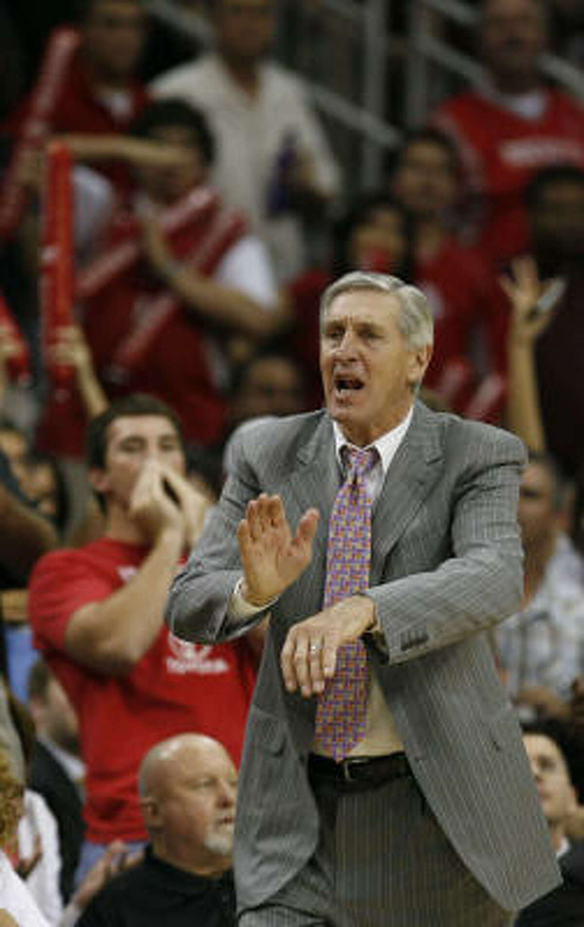 The Jerry Sloan-coached Jazz often encountered the Rockets in the postseason during his 23 seasons in Utah.