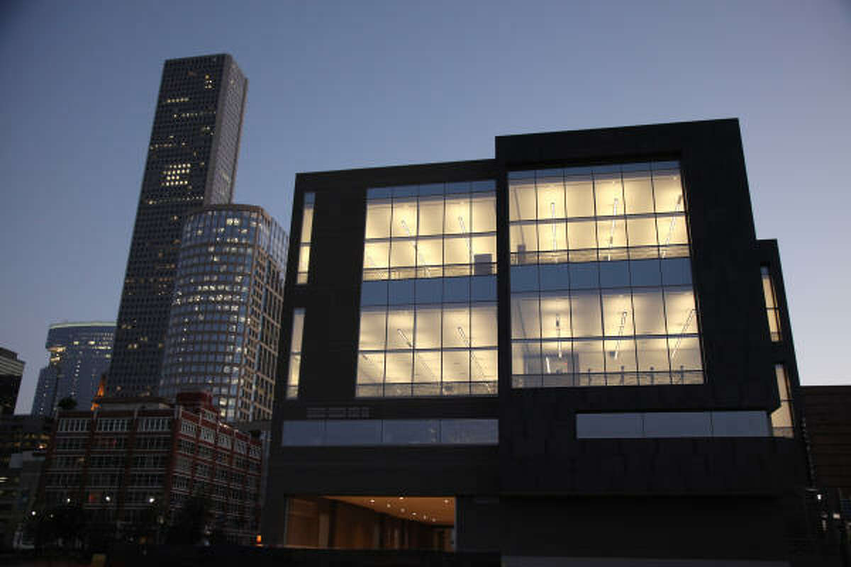 The Houston Ballet's new Center for Dance has viewing windows so anyone can peek in on practice.