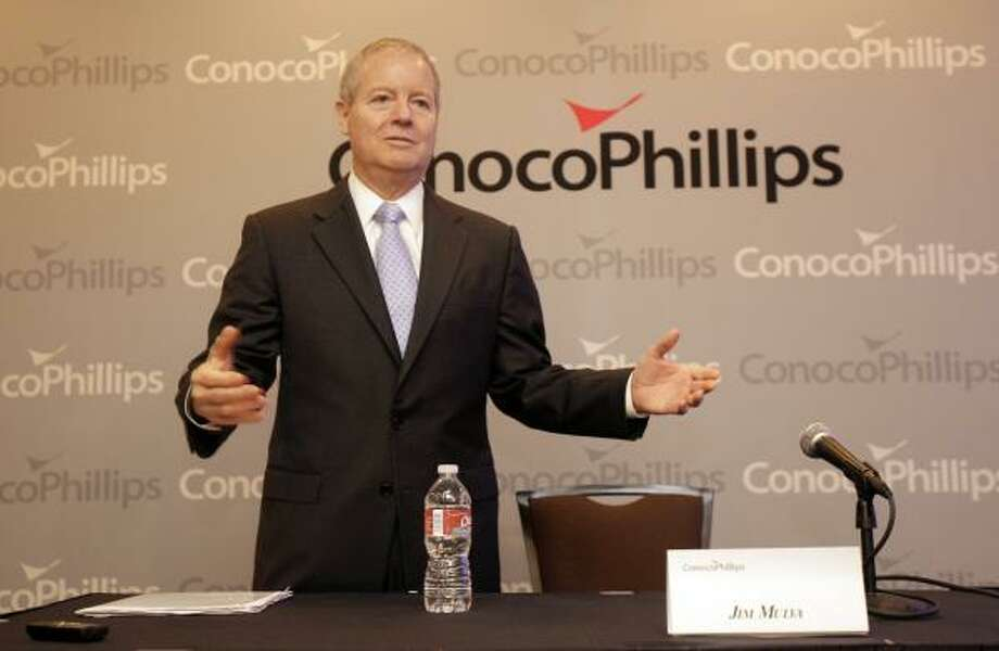 ConocoPhillips CEO James Mulva says his industry is already taxed heavily. Photo: Melissa Phillip:,  Chronicle