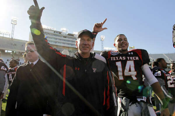 Texas Tech head coach Tommy Tuberville led the Red Raiders to an 8-5 record in his first season.