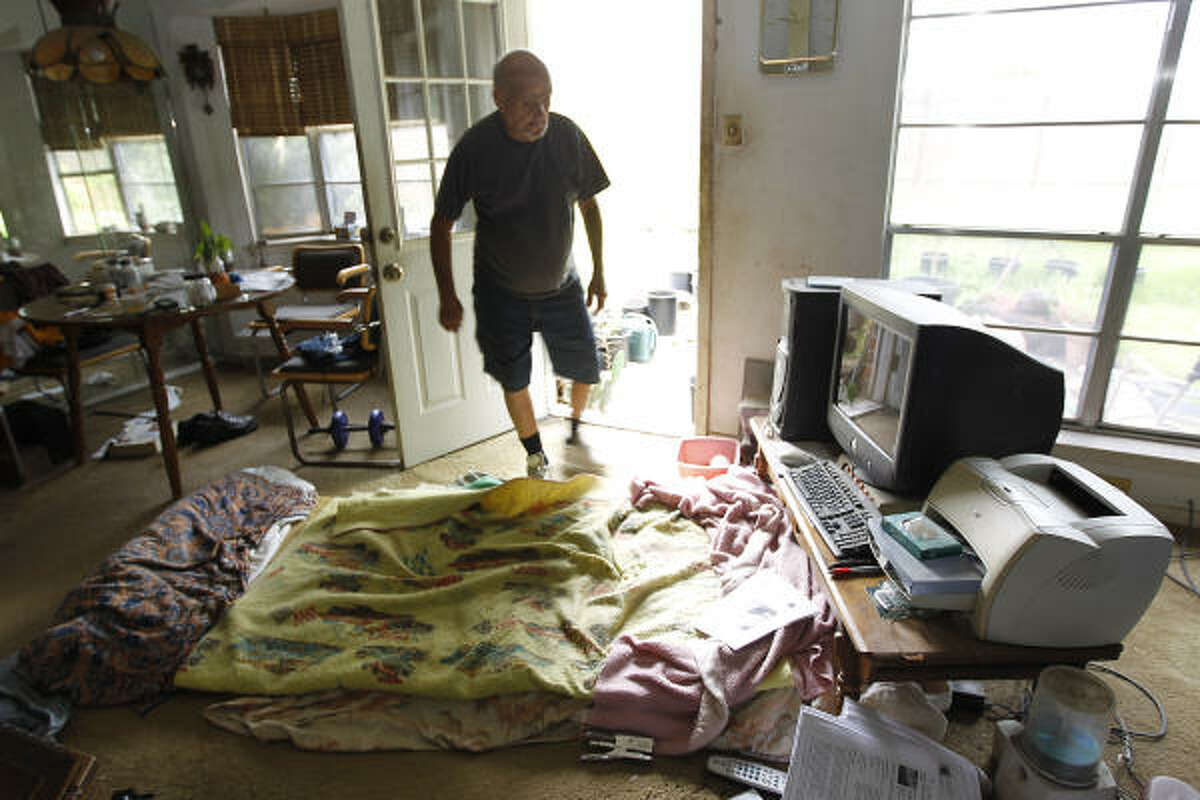 Ronald Fleming keeps a bed pallet on the floor next to the back door of his Houston home. The Texas Elder Abuse and Mistreatment Institute is making an effort to help Fleming get what he needs for a better life.