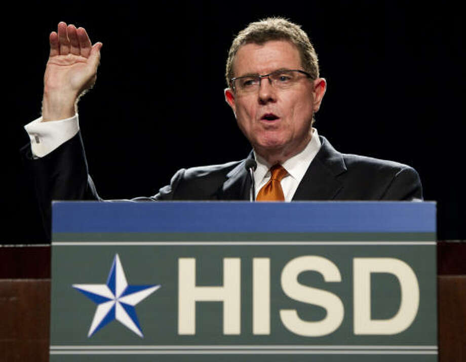 """We can't demand a no-excuses attitude from our students if we adults aren't willing to embrace that philosophy as well,"" Houston ISD Superintendent Terry Grier said. Photo: Brett Coomer, Chronicle"