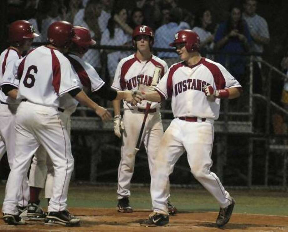 Wayne Taylor, right, leads Memorial with 12 home runs. Photo: Tony Bullard, For The Chronicle
