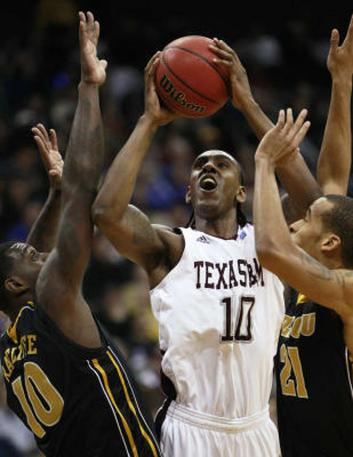 A&M forward David Loubeau had 20 points on 6 of 8 shooting in Thursday night's victory.