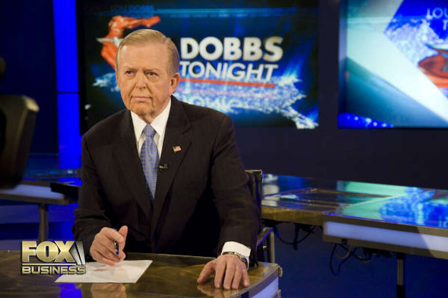 """""""I respect work, no matter what the job is and what it pays,"""" Lou Dobbs says. After nearly three decades at CNN, Dobbs has a new program on Fox Business Network. Photo: FOX BUSINESS NETWORK"""