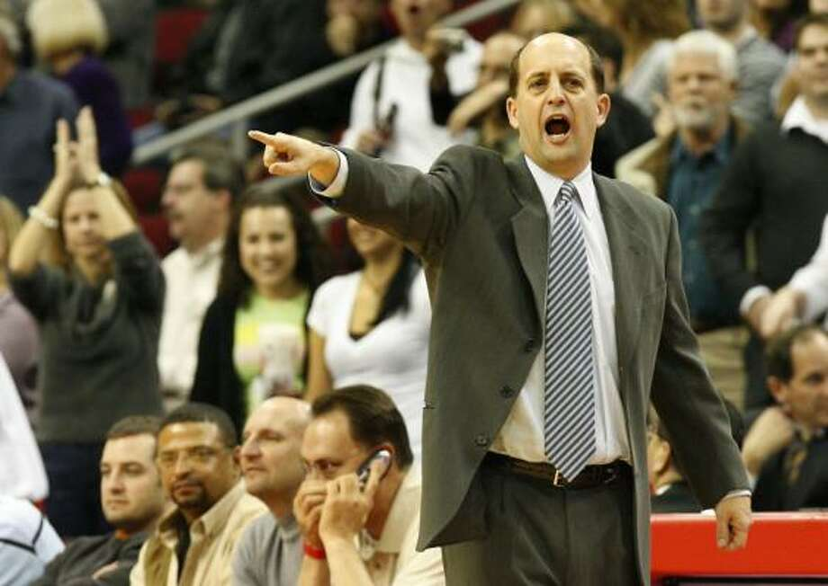 Former Rockets head coach Jeff Van Gundy now works as a commentator with ESPN and lives in Houston. Photo: Chronicle File Photo