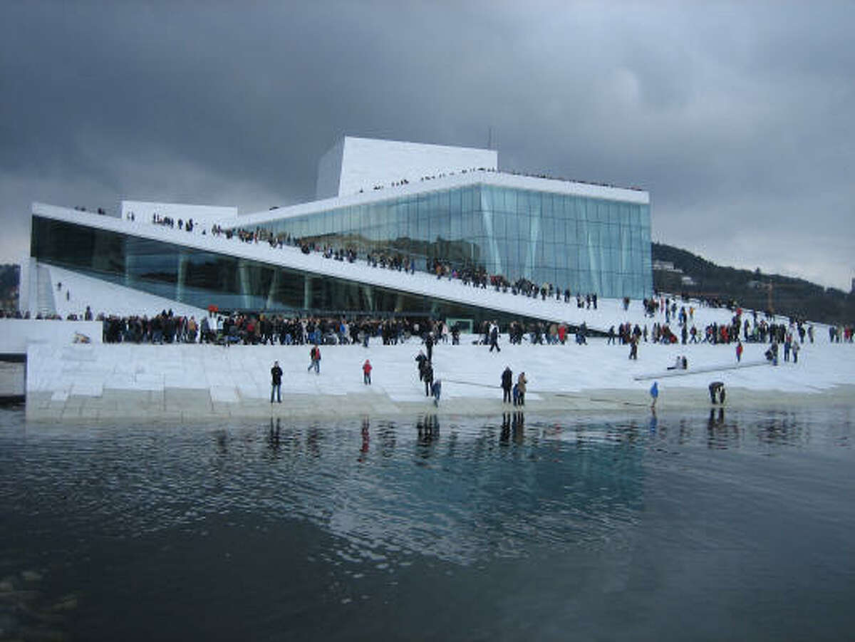The architecture firm Snøhetta developed the concept for the Oslo Opera House in Norway, and has a building in San Francisco.