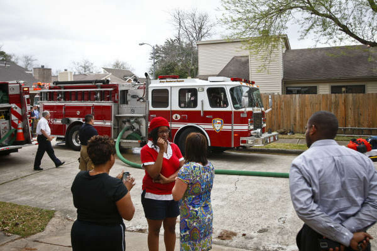 The scene at Jackie's Child Care in southwest Houston Thursday, Feb. 24, 2011, after a deadly fire.