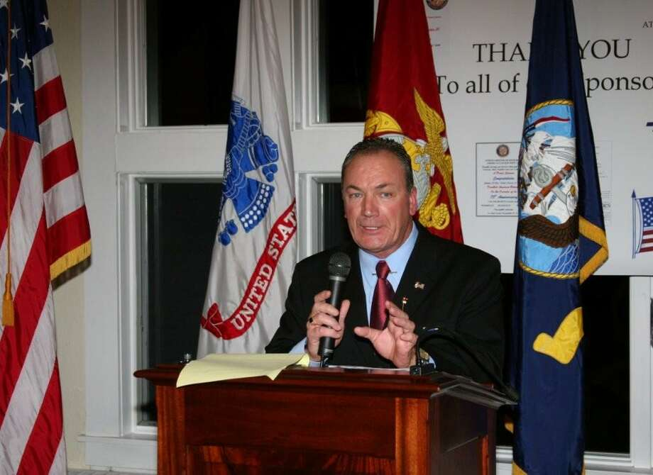 Tom Reiter speaking at the Disabled American Veterans 75th anniversary party. (Courtesy of John Mullen)