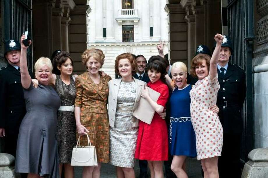 Nicola Duffett, from left, Andrea Riseborough, Geraldine James, Miranda Richardson, Sally Hawkins, Jaime Winstone and Lorraine Stanley star in Made in Dagenham. Photo: SONY PICTURES CLASSICS