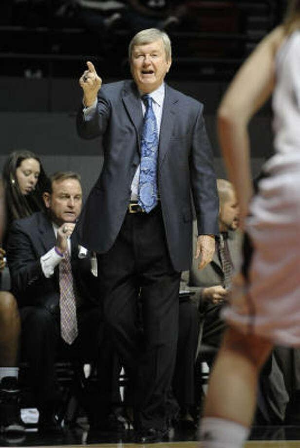 Texas A&M women's basketball coach Gary Blair wonders about the fairness of Texas' deal with ESPN. Photo: Denis Poroy, AP