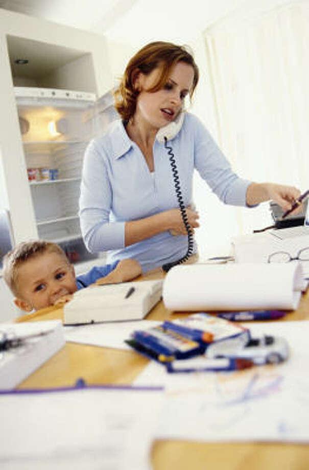 Múltiples tareas: ser madre añade estrés. Photo: Thinkstock