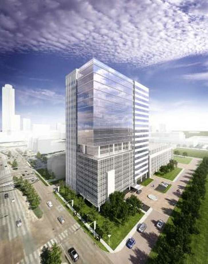 BBVA Compass will lease six floors of the 20-story building. It expects to start occupying the tower at 2200 Post Oak Blvd. in two years. Photo: BBVA Compass