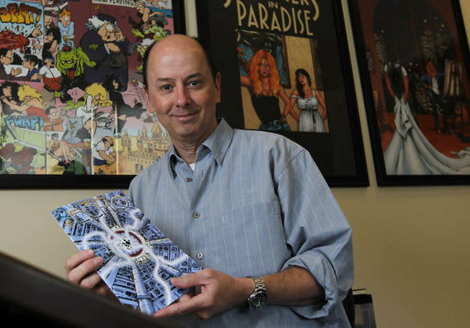 Terry Moore holds the final issue of Echo, which will be turned into a movie. Photo: Karen Warren, Houston Chronicle