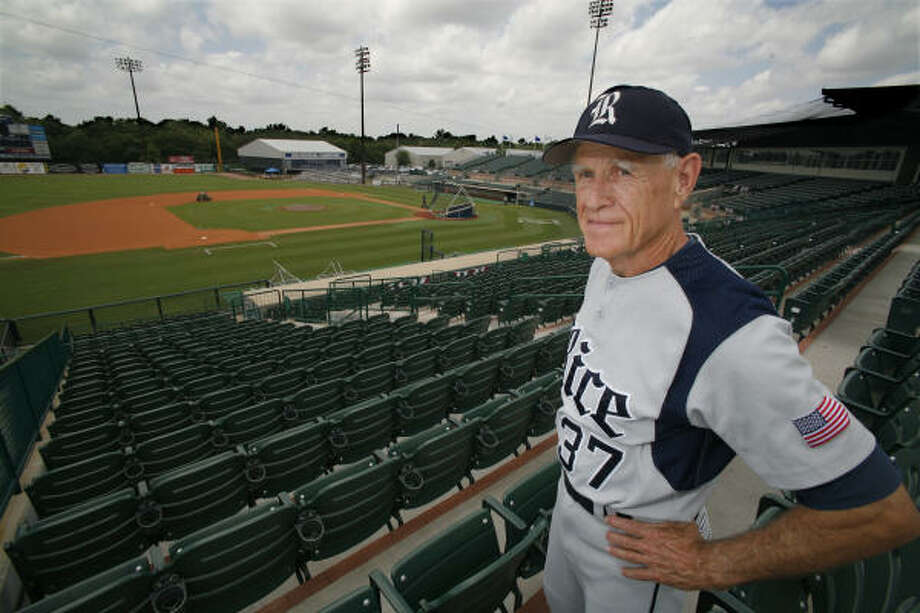 At 75, Wayne Graham remains invigorated and still enjoys coming to the ballpark every day. Photo: Chronicle File Photo