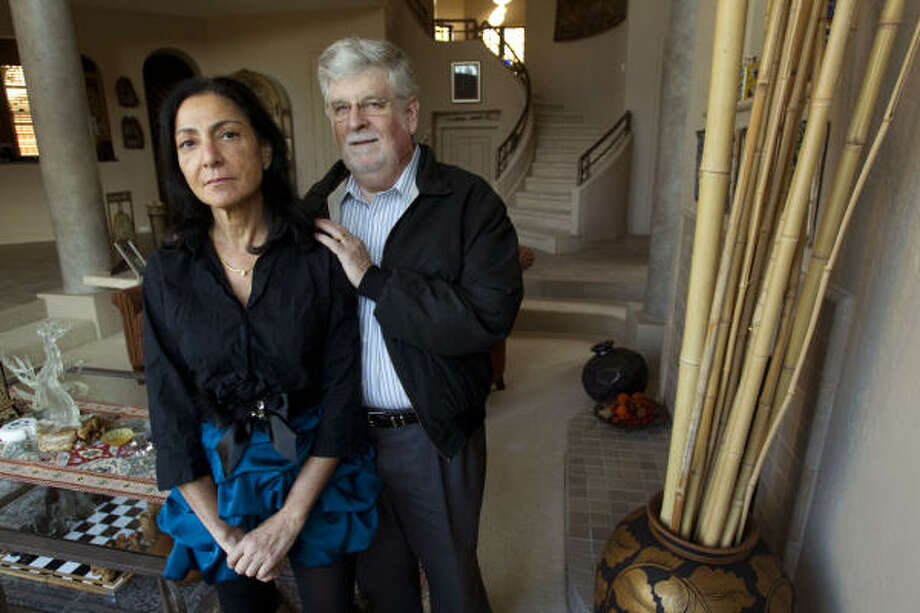 Linda Jayaram, shown with her husband, David Barish, says she is feeling the best she has in decades after traveling to Israel for stem-cell therapy to treat her multiple sclerosis. Photo: Brett Coomer, Chronicle