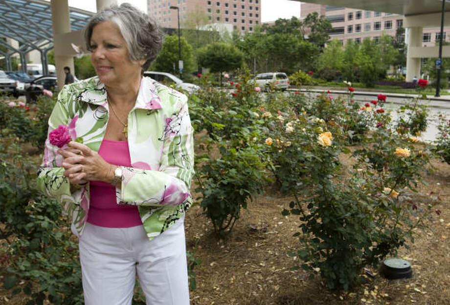 Irene Hunsicker was winner of the Chronicle's 'Forever Irene' rose naming contest. Photo: Brett Coomer, Houston Chronicle