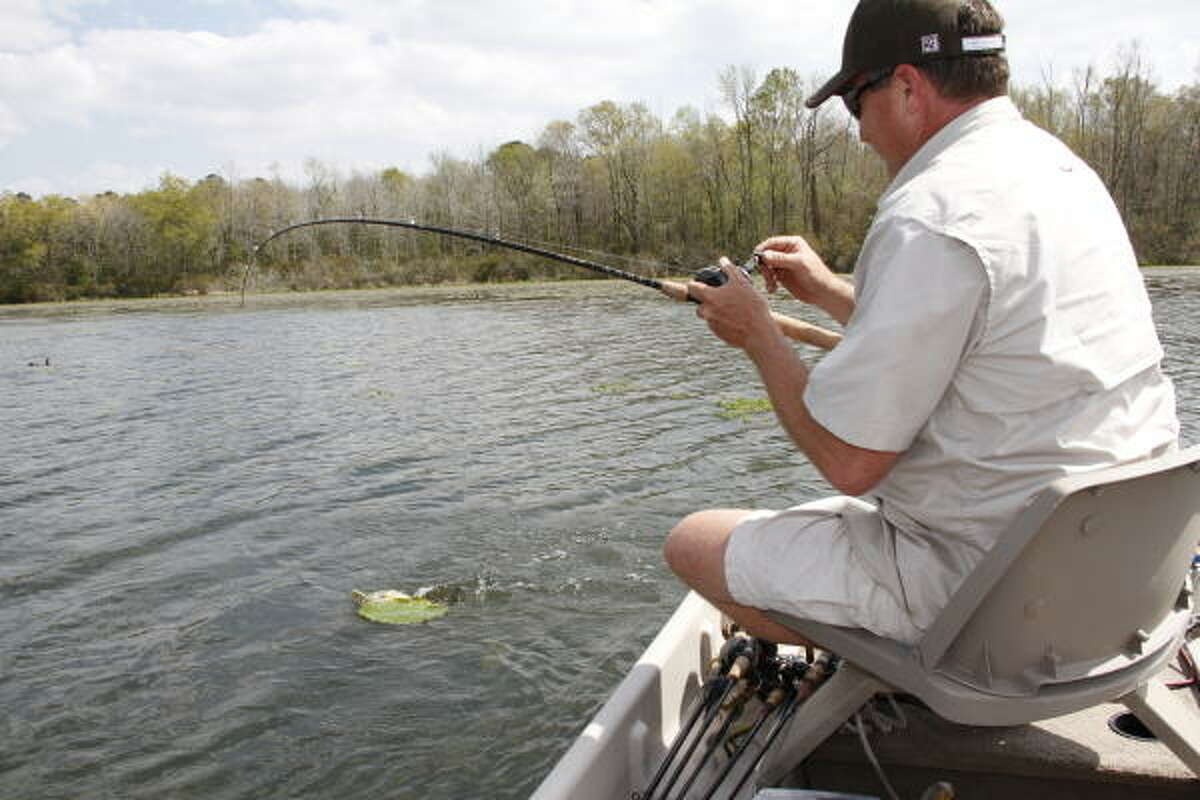 Enjoying a day on the water without having to compete with other anglers is one of the major attractions of fishing privately owned lakes.