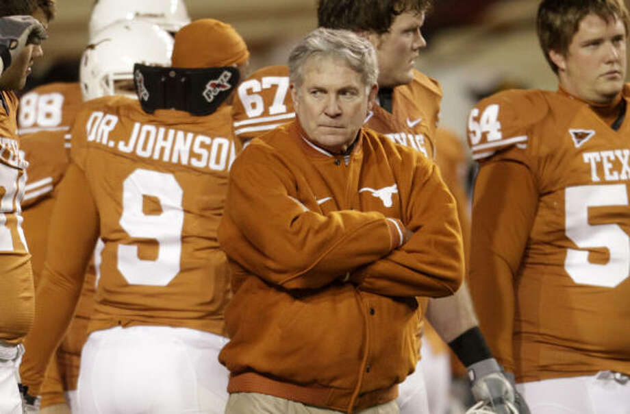 Mack Brown admitted last month that his team's unmitigated collapse made him question not only his staff but himself. Photo: Karen Warren, Chronicle