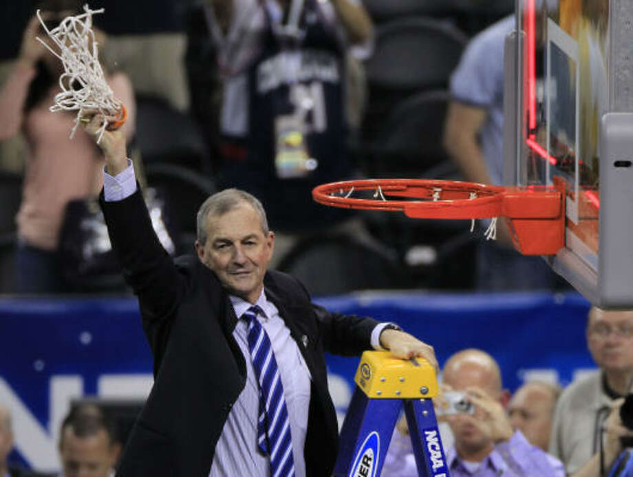 Jim Calhoun has spent 39 seasons on the sidelines, the last 24 at UConn, which he built into a three-time national champion. Photo: Brett Coomer, Chronicle